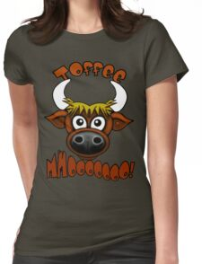 Highland Coo Womens Fitted T-Shirt