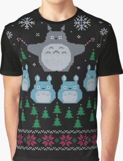 Totoro Ugly Christmas Sweater Graphic T-Shirt