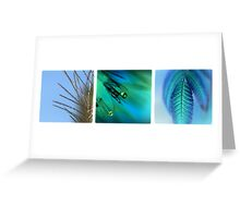 Blue Triptych Greeting Card