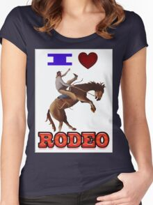 I LOVE RODEO Women's Fitted Scoop T-Shirt