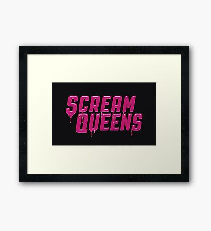 Scream Queens' logo. Framed Print