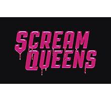Scream Queens' logo. Photographic Print