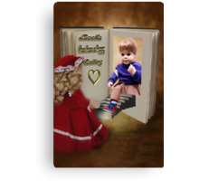 ✾◕‿◕✾BOOKS CAN HAVE A HAPPY ENDING KIDS PICTURE/CARD✾◕‿◕✾ Canvas Print