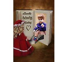 ✾◕‿◕✾BOOKS CAN HAVE A HAPPY ENDING KIDS PICTURE/CARD✾◕‿◕✾ Photographic Print