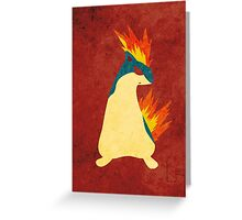 Quilava Greeting Card
