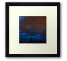 ©HCS Communication Tower In Red Framed Print