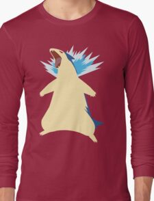 Blue Flame Typhlosion Long Sleeve T-Shirt