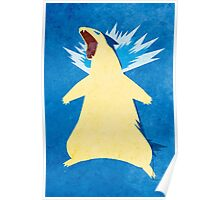Blue Flame Typhlosion Poster