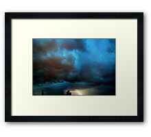 ©HCS Thunder In A Blue And Red Cloudy Night Framed Print