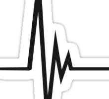 Heartbeat Music Note Pulse Sticker