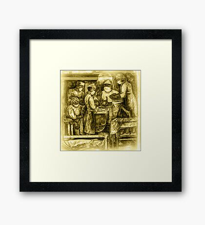 ©DA Mural Paintography Textured In Monochrome Framed Print