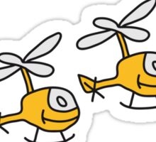 Cute Helicopters Sticker