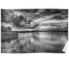 Clouds Over The Mill Pond  Poster