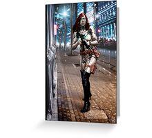 Cyberpunk Photography 042 Greeting Card