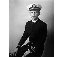 JFK Wearing His Navy Uniform Photographic Print