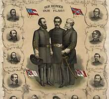 Confederate Generals of The Civil War by warishellstore