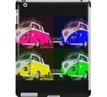 Volkswagen Camper Multi colors illustration iPad Case/Skin
