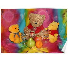 Teddies Psychedelic Picnic Poster