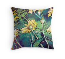 Yellow daises  Throw Pillow