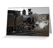 Steam Locomotive in Canberra Greeting Card