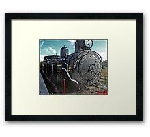 Steam locomotive in Canberra Framed Print