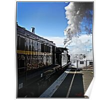 Steam Locomotive in Canberra on its way Poster