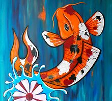 Dancing Koi Fish by HiddenCityArt