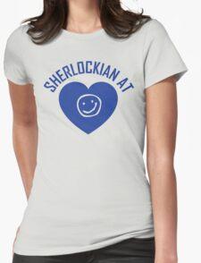 SHERLOCK FAN SHERLOCKIAN AT HEART Womens Fitted T-Shirt