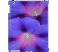 Purple and Pink Colored Morning Glory Flowers Closeup iPad Case/Skin