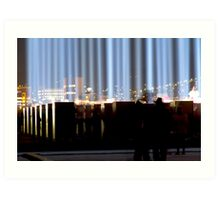 Spectra and the City - Hobart, Tasmania Art Print