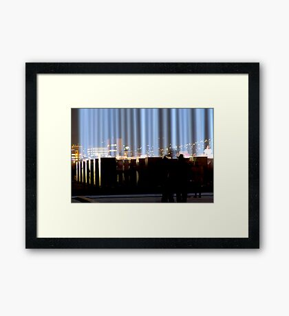 Spectra and the City - Hobart, Tasmania Framed Print