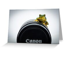 Canon Frog Greeting Card