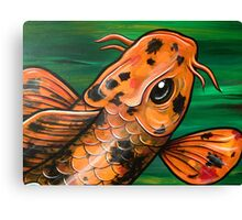 Eye Of The Crocodile Koi Canvas Print