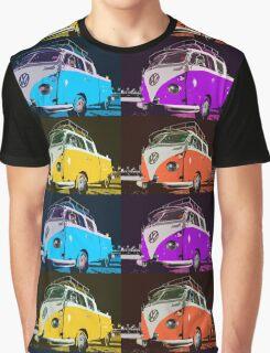 Volkswagen Camper Multi colors illustration 2 Graphic T-Shirt