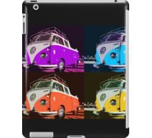 Volkswagen Camper Multi colors illustration 2 iPad Case/Skin