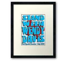 Stand With Wendy Davis - 2nd Session Framed Print