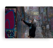 Graffiti Artist - Rutledge Lane Melbourne Metal Print