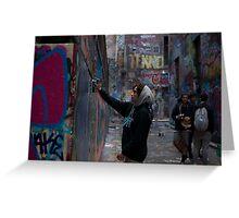 Graffiti Artist - Rutledge Lane Melbourne Greeting Card