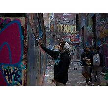 Graffiti Artist - Rutledge Lane Melbourne Photographic Print