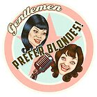 Logo for close-harmony duo 'Gentlemen Prefer Blondes'  by Amanda Clegg