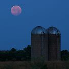 Supermoon and Silos by Lisa Holmgreen