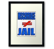 Miscarriage Does Not Equal Jail 4 Framed Print