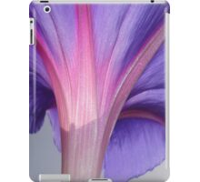 Macro of a Pale Lilac and Pink Morning Glory iPad Case/Skin