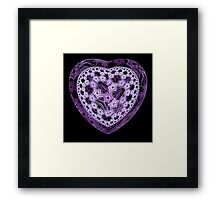 Candy Heart Framed Print