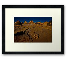 Is it a lake or is it a desert? Framed Print