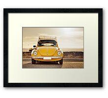 Yellow Beetle Framed Print