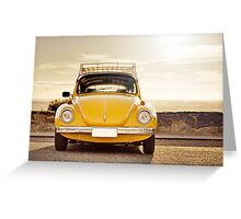 Yellow Beetle Greeting Card