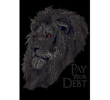 Pay your Debt Photographic Print