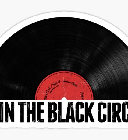 Spin The Black Circle Sticker