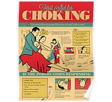 Tango Themed Choking Victim Poster Poster